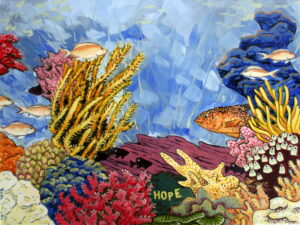 Hope Tropical Ocean Oil Painting